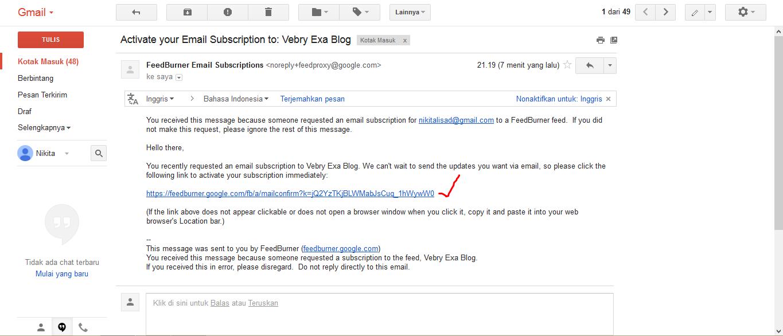Cara Berlangganan Artikel Di Vebry Exa Blog