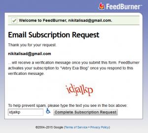 Cara Berlangganan Artikel Secara Gratis Di Vebry Exa Blog