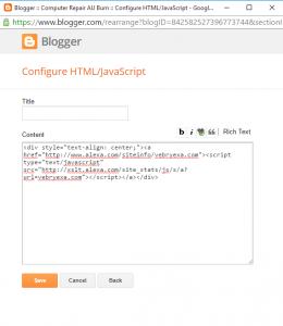 Cara Memasang Widget Alexa Di Blog