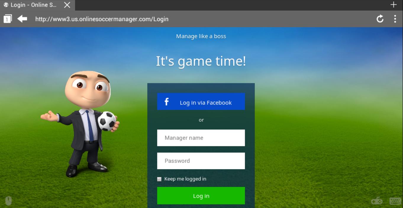 Cara Log In Dengan Tampilan Baru OSM (Online Soccer Manager) Menggunakan Android