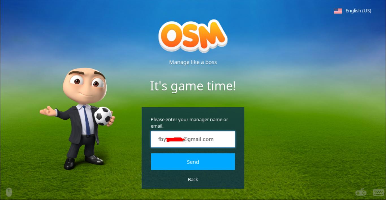 Cara Log In Dengan Tampilan Baru OSM (Online Soccer Manager) Menggunakan Facebook