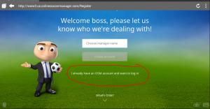 Cara Log In Dengan Tampilan Baru OSM (Online Soccer Manager) Via Android