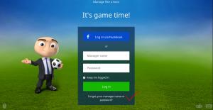 Cara Log In Dengan Tampilan Baru OSM (Online Soccer Manager) Via Facebook