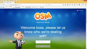 Cara Log In Ke Tampilan Baru OSM (Online Soccer Manager) Menggunakan Komputer