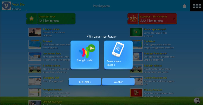 Cara Mendapatkan Tiket Premium OSM (Online Soccer Manager) Gratis Lewat Android