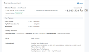 Bukti Withdraw PayPal Limited 10