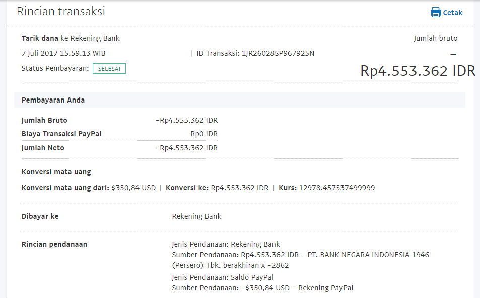 Bukti Withdraw PayPal Limited 12