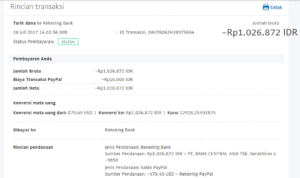Bukti Withdraw PayPal Limited 13