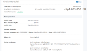 Bukti Withdraw PayPal Limited 14