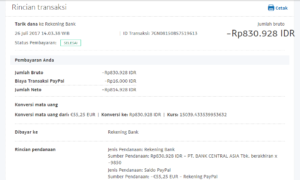 Bukti Withdraw PayPal Limited 15