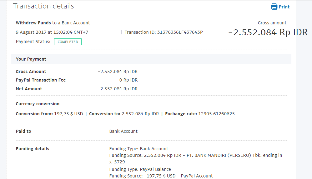 Bukti Withdraw PayPal Limited 16