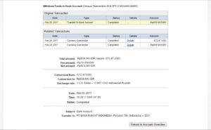Bukti Withdraw PayPal Limited 3