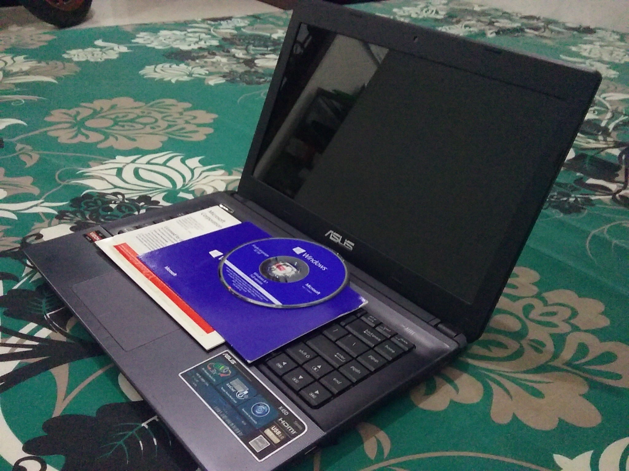Dijual Laptop ASUS K45DR + Windows 8.1 Ori