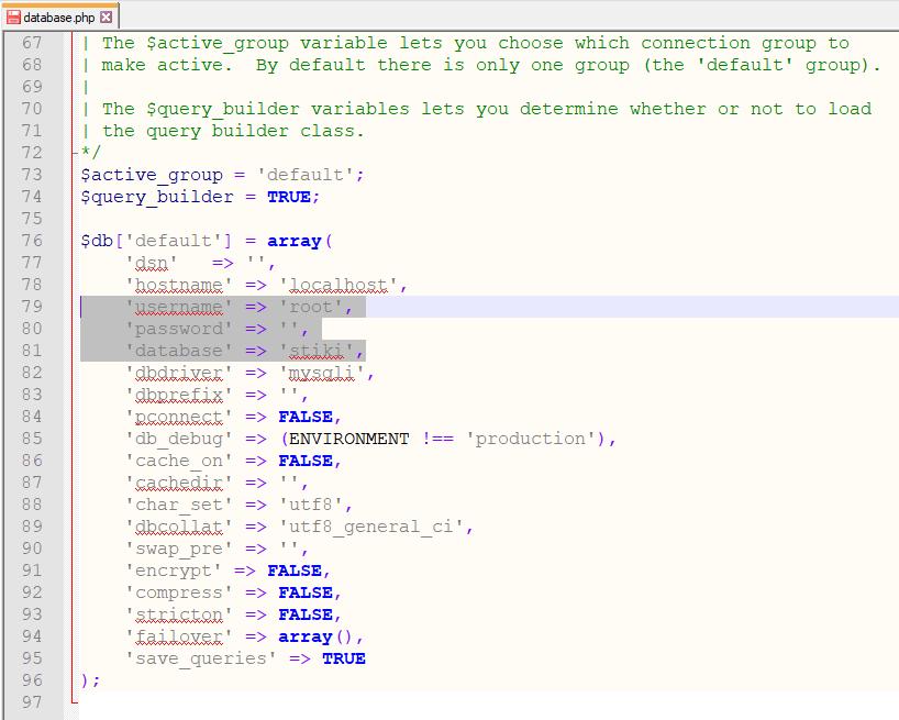 Koneksi Database di CI