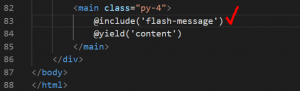 Include Flash Message