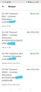 Cashback Bibit