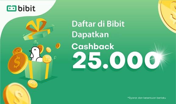 Cara Mendaftar di Bibit dan Claim Cashback Rp 25.000