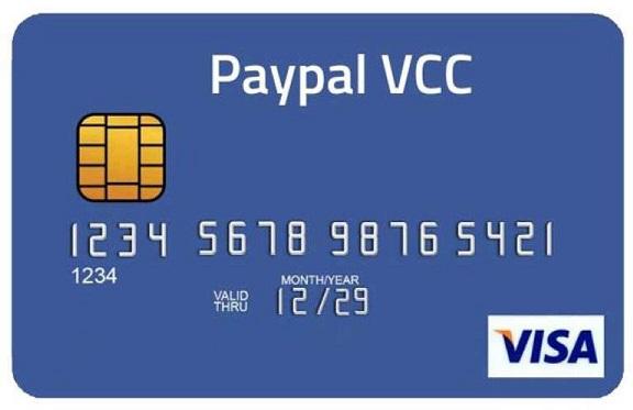 Jual VCC PayPal Masa Aktif 5 Tahun (Murah & Langsung Aktif)
