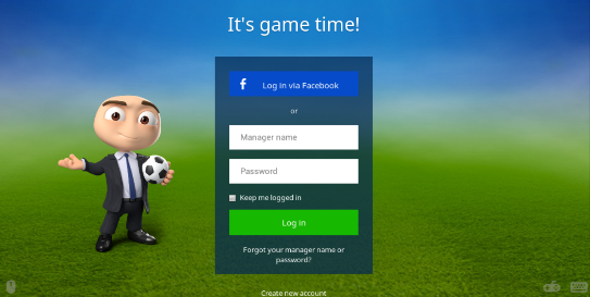 Cara Log In Ke Tampilan Baru OSM (Online Soccer Manager) Via Facebook